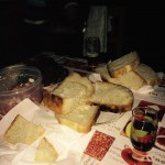 Home baked bread and wine