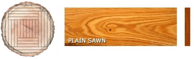 plain sawn