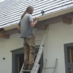 Attaching gutter to the roof