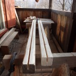 Beams for holding glass